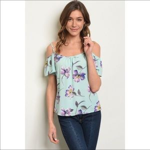 Floral off the shoulder top!